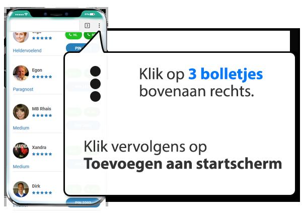 android: Mediums.nl instellen als app op Mobiel
