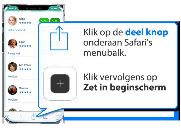 iphone en ipad: Mediums.nl als app instellen op Mobiel